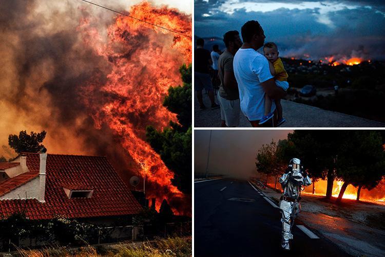 zjarr athine greqi