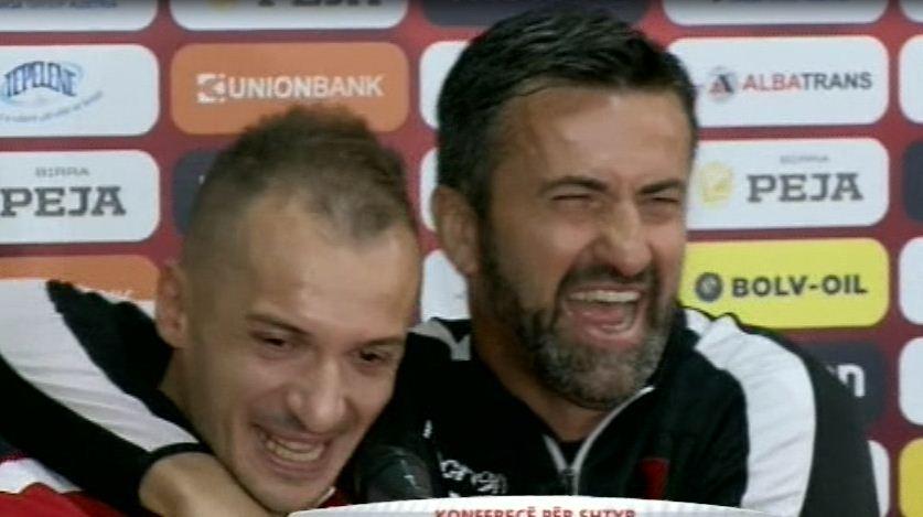 nsi Agolli dhe Christian Panucci