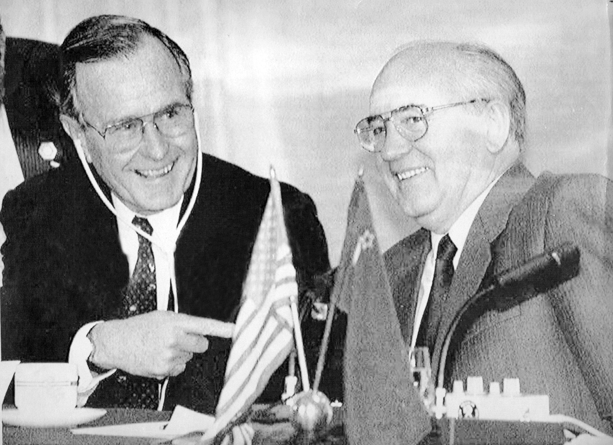 Xhorxh Bush dhe Mikail Gorbaçov