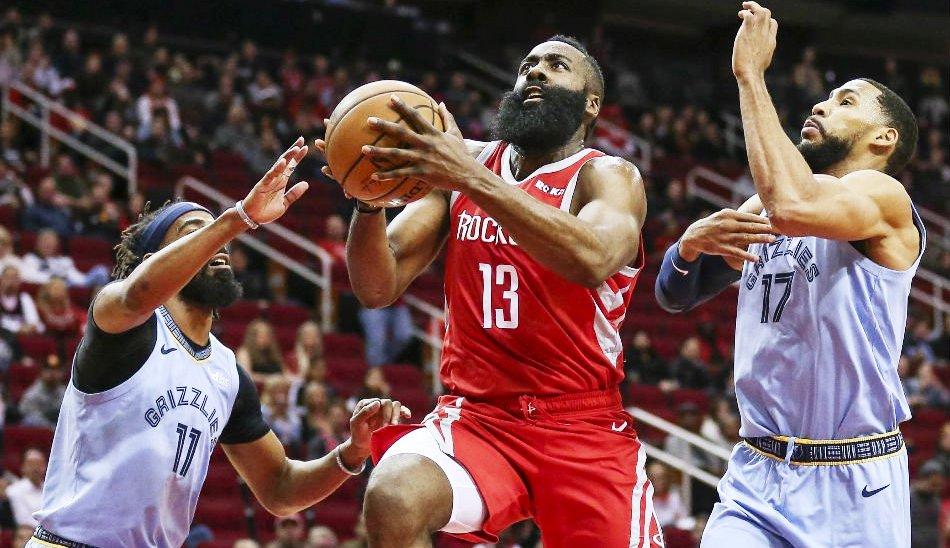 James Harden Houston Rockets Memphis Grizzlies