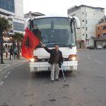 Protestuesit nga rrethet nisen drejt Tiranës