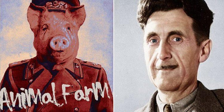 Geroge Orwell dhe alegoria politike te vepra monumentale Ferma e Kafshëve 1 750x375 1 1