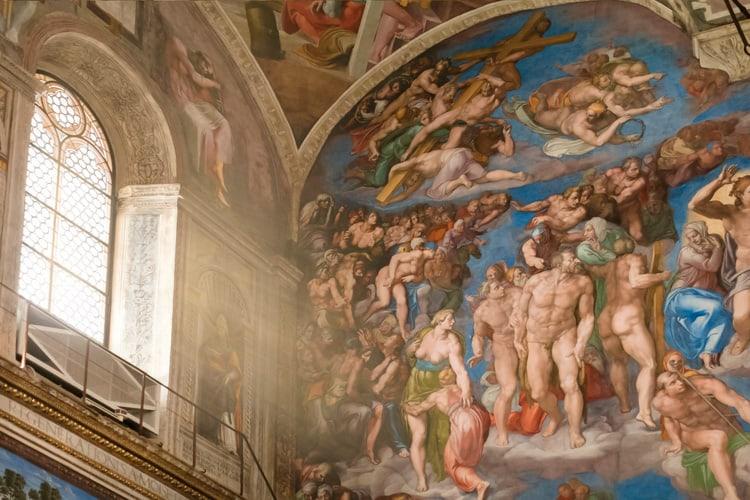 Sixtinska kapellet målningar
